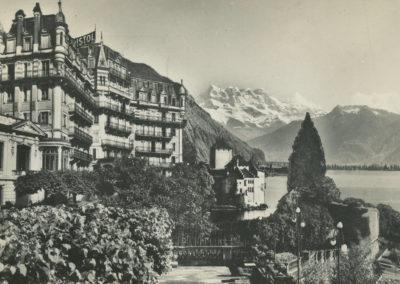 Hôtel Bristol, Territet, Montreux (Suisse). © Edit. Léman Ganguin & Laubscher S.A. Montreux, carte datée de 1959