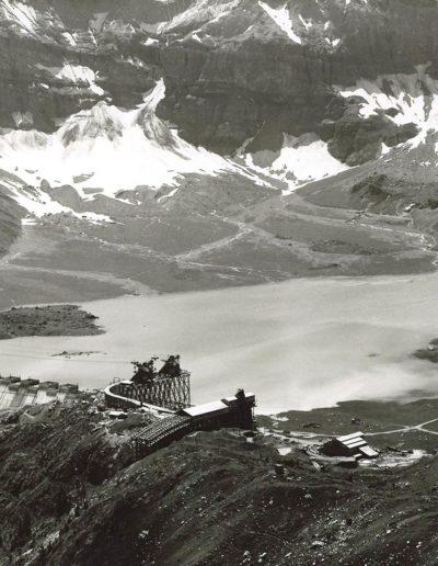 Panorama du chantier et lac de Salanfe, vue aval. © Alpiq