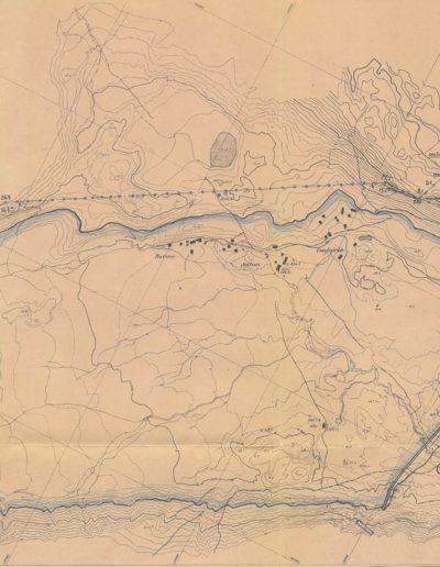 Détail du plateau de Salanfe lors de la construction du barrage en octobre 1950. © Archives de l'Abbaye de Saint-Maurice