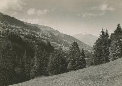 Val d'Illiez vu de Chettet, vers 1920. © Fonds Boissonnas, Bibliothèque de Genève