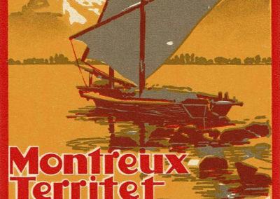 """Etiquette de bagage """"Montreux-Territet, Hôtel Bristol"""""""
