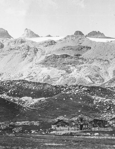 Salanfe et les Dents du Midi, vers 1900. Source : Section des Diablerets du Club Alpin Suisse