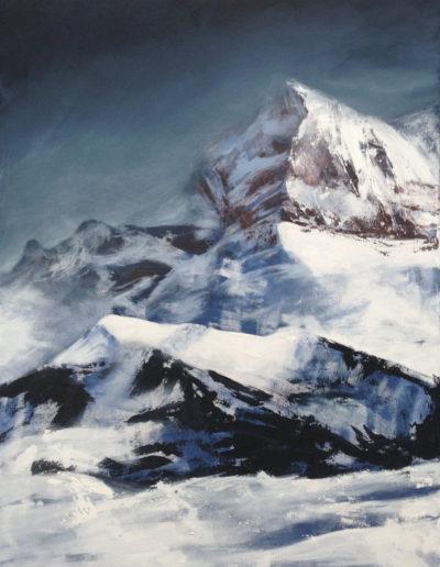 La Cime-de-l'Est (acryl sur toile 80 x 60cm), 2015