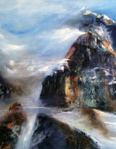 La Haute-Cime (huile sur toile 50 x 50cm), 2012