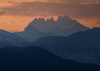 Les Dents-du-Midi prise au sommet du Salève (1379m.). © Oleg Demakov, compte Instagram odemakov