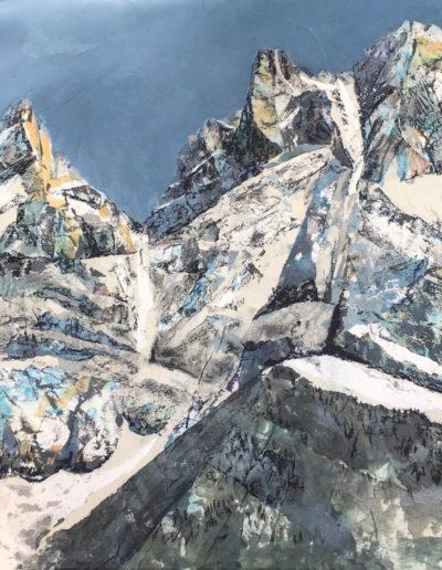 Trois des Dents (collage sur toile 60 x 60cm), 2017