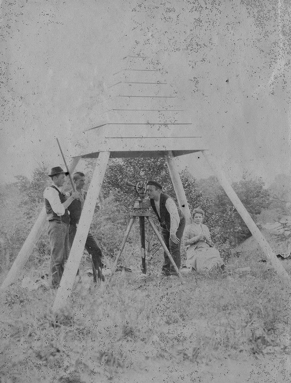 Mesures trigonométriques à Troistorrents, 1901